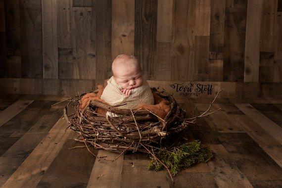 85. Newborn Real Wood Nest Prop 4