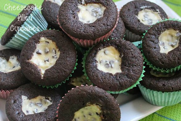 15. Chocolate Cheesecake Filled Cupcakes Christmas Cookie Recipe