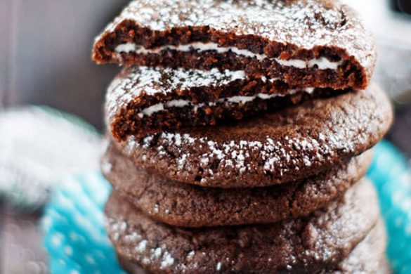 43. Peppermint Patty Stuffed Chocolate Cookies Christmas Recipe