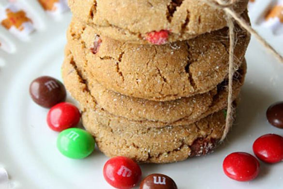 50. Gingerbread Drop Cookies With Ginger M&m's Christmas Recipe