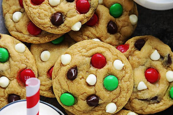 51. Double Chocolate Chip M&m Cookies Christmas Recipe