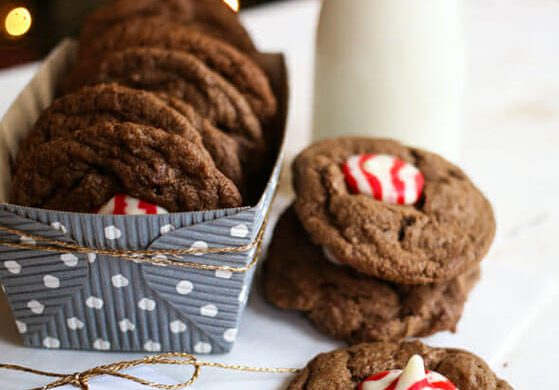 55. Candy Cane Kiss Cookies Christmas Recipe