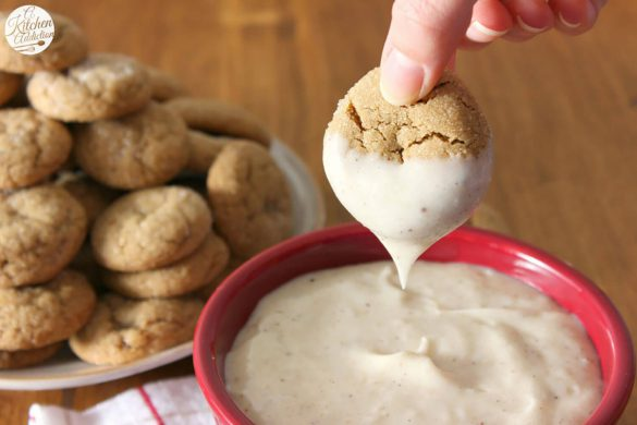67. Ginger Cookies With Eggnog Dip Christmas Recipe