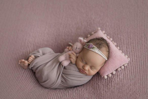 25.newborn Faux Fur Pink2