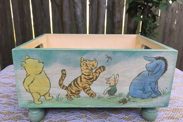 88. Newborn Winnie Pooh Box Prop