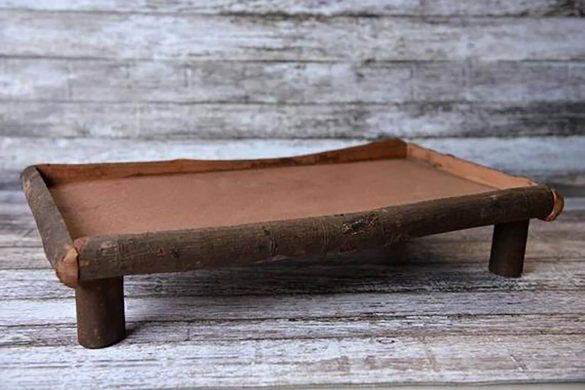 91.newborn Wood Rustic Base Prop
